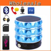 Mini USB Flash Disk Sound Card Multi-Function Bluetooth Speaker S10 Aluminum Portable Wileress Speaker With FM Radio MP3 Player