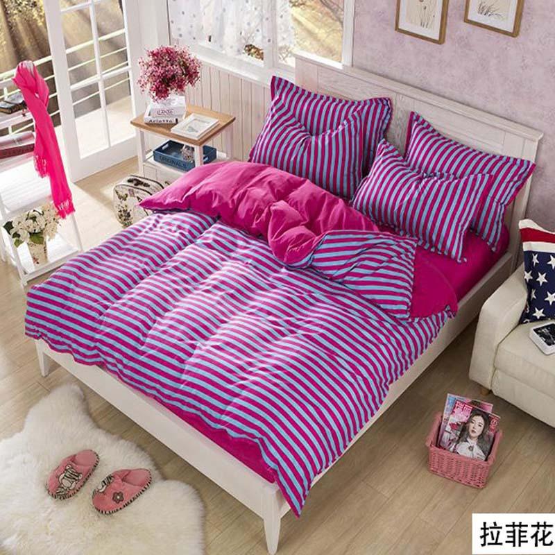 3 pcs e 4 pcs rei / rainha / Twin bed define roupas de cama conjuntos de cama clássico listra capa de edredão set cama tamanho cobertura rei(China (Mainland))