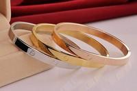 Top Quality Stainless Steel Fashion Bangle Hott Sale Women Bracelet Stylish Jewery 3 Piercing Best Gift Bangle Jewelry  LR03