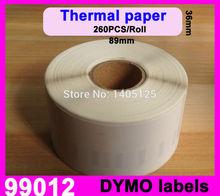 100 x rolls Dymo 99012 Labels Compatible adress labels