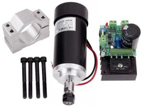 400W CNC Air-cooled DC Spindle Motor with PWM Speed Controller And Mounting Bracket