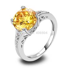 New Jewelry Alluring Amethyst Citrine Garnet Pink Topaz 925 Silver Ring Size 6 7 8 9