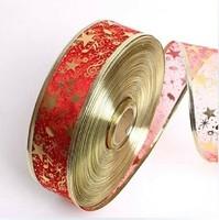 Wholesale 16 Style 25 Yard 2 ''  ( 5CM ) Width Christmas Decoration Organza Ribbon Printed Ribbon