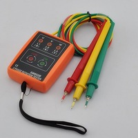 Cheapest 3 Phase Rotation Tester Detector Indicator Meter LED + Buzzer H2485