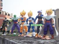 New Dragonball Z Dragon Ball DBZ Anime 15cm Goku Vegeta Piccolo Gohan super saiyan Joint Movable Action Figure Toy 6 pcs Set