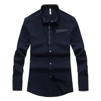 Printed Design Man Casual Cotton Shirts Plus Size M-4XL Autumn & Spring Turn-down Collar Men Fashion Career Clothings