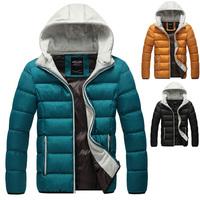Cold Winter Men Warm Down Parkas Plus Size L-4XL Korean Fashion Hooded Coats Man Casual Outertwear