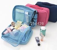 3pcs/Lot New 4Colors 2014 Brand Girls Nylon Multifunction Make up Organizer bag Ourdoor Travel Bag Cosmetic Makeup Wash Bag