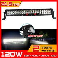 21.5 inch 120w LED Light Bar Tractor Truck  ATV Offroad 12v 24v  Fog Light LED Worklight External Light Save on 180w 240w