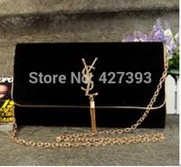 New brand genuine leather velour women shoulder bag clutch purse chain small bag messenger bag