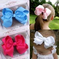 1PCS Infant hairbows Ribbon bow hair clip Baby girls hairclip Girls Boutique Handmade Hair Bow Hair Clip 12 colors