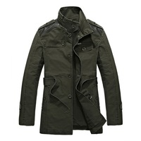 Handsome Man Casual Trench Plus Size M-3XL Patchwork Belt Decor Single Breasted Men Brand Outerwear Korean Fashion Coats