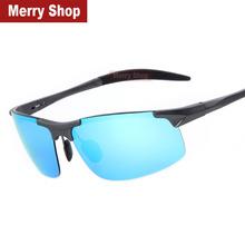 2015 Men Polarized Aluminum Alloy Frame Sunglasses Mirror Lens Driving Polarzied Sunglasses Fashion Men s Sunglasses