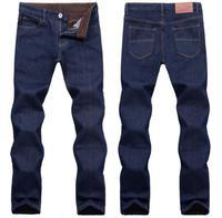 2014 fashion designer brand men jeans denim pants trousers, winter with wool warm pants jeans 9006