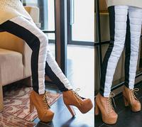 2014 Free Shipping New Fashion Female Winter Warm Thick Velvet Down Trousers Slim Women Warm Thick Velvet Down Pants