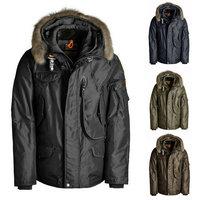 2015 Duck Down Jacket Men Coat Winter Warm Down-Jacket Army Khaki Parka Man Real Fur Collar Snow Jackets High Quality
