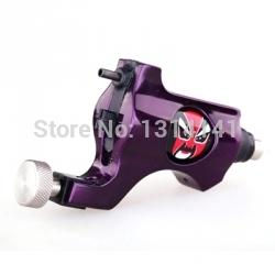 Hot Sale New Style Professional Bishop Tattoo Rotary Gun Machine Liner&Shader Motor with RCA Free(Purple) shipping(China (Mainland))