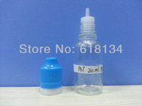 Wholesale Free shipping--NEW TYPE 20ml PET thin tamper evident cap with childproof lock bottle for 1000pcs  E-cigarette