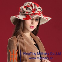 Autumn and Winter Women Hats Enchanting Red Dress Wool Felt Hat Natural 100% Wool Han Edition Fashion Hat with Scarf