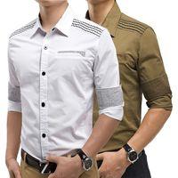 Fashion 2015 New men's camo army shirts slim fit long sleeves shirts man tops upper garments clothing shirt male clothes