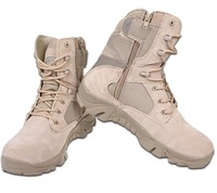 men Delta Tactical Boots Military Desert Combat Boots Shoes Summer Breathable Boots,sand and black eur size 39-45 Free Shipping