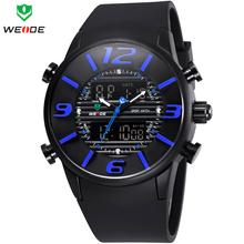 Weide multifuncional Digital correa de caucho relojes para hombre de cuarzo militar reloj de buzo deportivo marca de lujo ejército reloj de moda