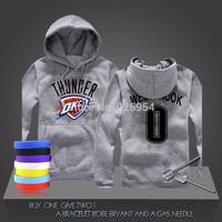 New Russell Westbrook # 0 Basketball Super Star Oklahoma City Hoodies Clothing Cotton Sweatshirt  Men Training Long-sleeved Top