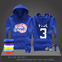 New Chris Paul #3 Basketball Supper Star CP3 LA Clippers Sweatshirt Clothing Cotton Hoodies Sport Men Training Long-sleeved Tops