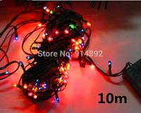 free shipping 10M  100 LED Colored lights / Christmas tree decorative light string lights / holiday decoration lights 150g DIY