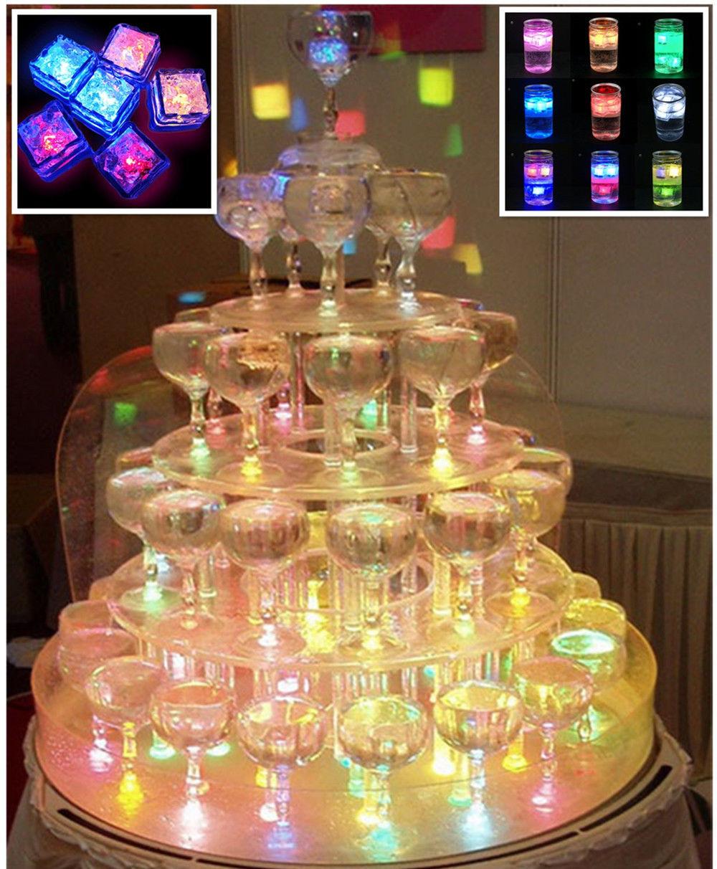 decoracao festa glow:Líquidos ativos cores mudando Led Night Light decoração cubo de