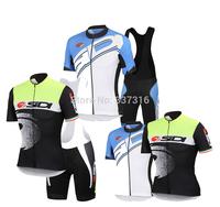 2 color 2014 SIDI Cycling Jersey Short Sleeve and bicicleta Bib Shorts Kits Ropa Ciclismo Clothing Maillot Free shipping!!!