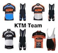 High quality!2014 KTM Cycling Jersey Short Sleeve Bib Shorts Kits Ropa Ciclismo Bike Clothing MTB Sportswear Maillot 4 styles!!!