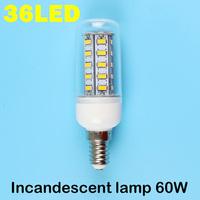 E14 36LEDS SMD 5730 (=Incandescent lamp 60W) LED Corn Bulb 220V - 250V Warm white cold white LED Lights