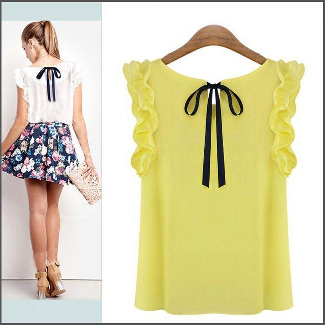 Женские блузки и Рубашки Blouse 2015 o Lotus Blusas 5 s/xl Chiffon top женские блузки и рубашки al 2015 blusas o s xl roupas femininas0374 al374