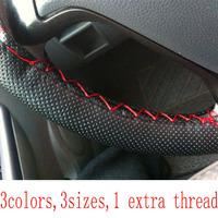 sew-on car steering wheel cover hole-digging breathable slip-resistant, handmade of sew cover, steering wheel hubs