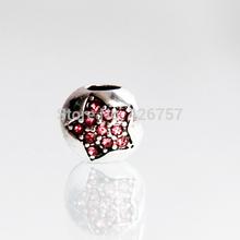10pcs 9mm Antique silver star rhinestone big hole beads DIY alloy big hole beads fit Pandora