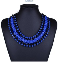1pc new style fashion exquisite exaggerate colorful resin big pendant  necklace for women