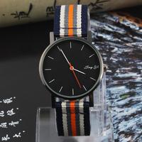 International Brand Wristwatch Men Military Sports Watches, Quartz Flag table Women Canvas Nylon Fabric Casual Analog Watch