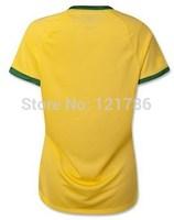 Top Thailand Quality 2014 World Cup New brazil women soccer jersey  football shirt Uniform