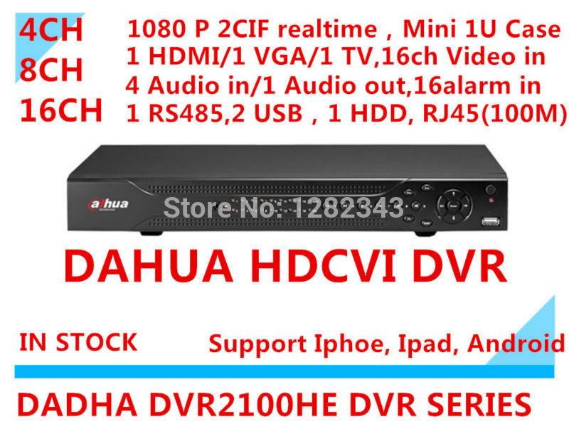 CCTV Видеорегистратор Dahua dvr 4ch 8ch 16 ch d1 /1u 1sata 4 dvr VGA 4 hdmi 1 p2p dvr 2100HE DVR2104HE &DVR2108HE &DVR2116HE 4ch 8ch 1080n cctv ahd dvr nvr xvr video