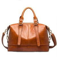 Women Leather Handbags Tote Hot Genuine Leather Bags New Wax Oil Cowhide Bag 2014 Shoulder Bags Vogue Women Messenger Bags