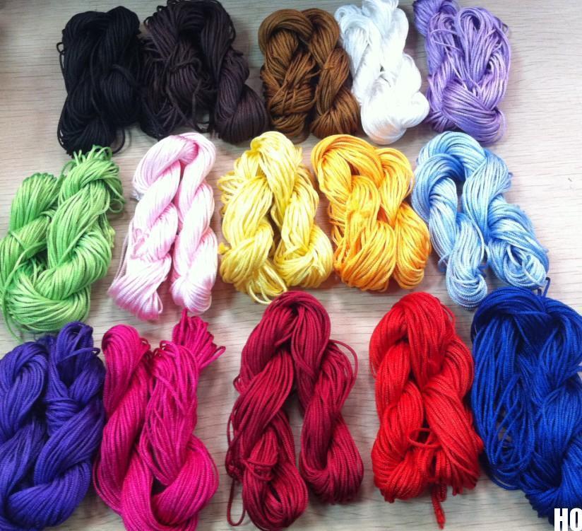 New 2015 1mm Nylon Chinese Knot Cord Macrame Rattail Braided Jewelry Thread String(China (Mainland))