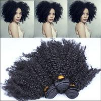 Brazilian Curly Virgin Hair Afro Kinky Curly Hair Bundles Natural Black Free Shipping Cara Hair Products 3Pcs/Lot Mixed Length