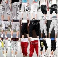 2014 Hot Sale !! Fashion Casual Loose Mens Sports Capri Cropped Short Pants loose male trousers  M50046