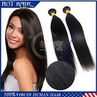 High quality Brazilian virgin hair straight  2 pcs unprocessed human hair extension 6A Brazilian straight hair can be dyed hair