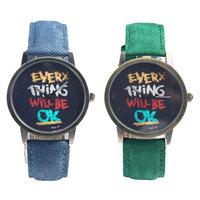 Carton Watch Fashion Casual Fabric Band Watch Men Quartz Watch Wristwatches Woman Watches 2014 new