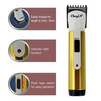 Titanium Plated Electric Hair Clipper/Razor Barber Cutting/Haircut Machine Hair Trimmers\Trimer For Men Baby 0.6-RCS45G