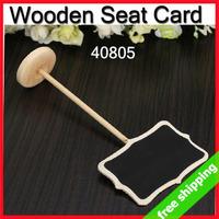 FREE SHIPPING Seat Card Brand Holder Blackboard Wedding Party Name Desk No. Decoration Promotion Gift 15pcs/lot say hi 40806