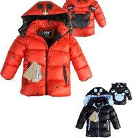 Hotsale Babies Cute Winter Jacket Cotton-Padded Overcoat Long Sleeve Casual Cartoon Zipper Coat Children Warm Outerwear ej656867
