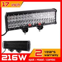 """17"""" 216w LED Work Light Bar 12v 24v  IP67 Adjustable Bracket Truck Tractor ATV Offroad Fog Light LED Worklight Save on 240W"""